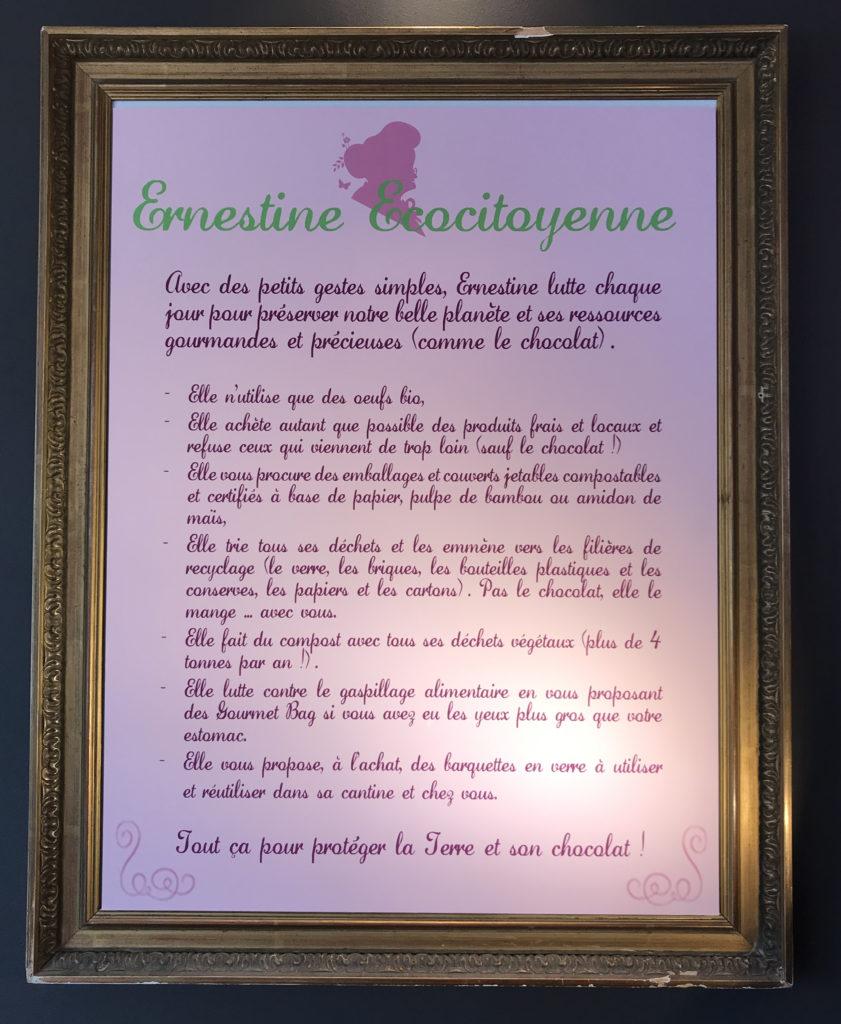 Charte écocitoyenne Ernestine